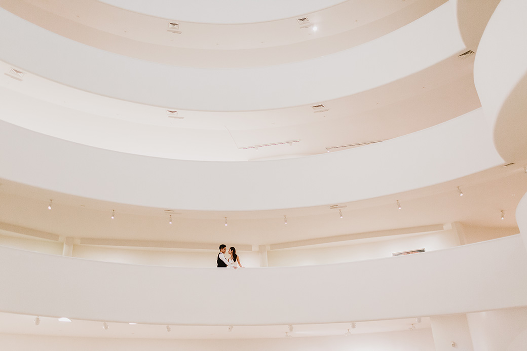 Guggenheim museum engagement session
