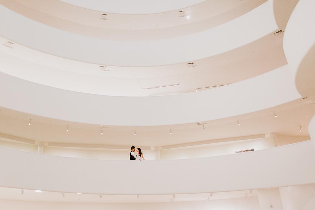 Guggenheim museum engagement session