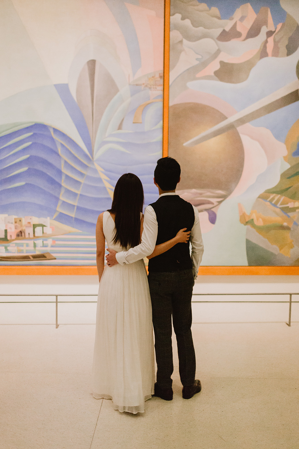 nyc museum engagement session