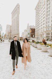 Flatiron NYC Wedding couple