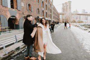 DUMBO NYC wedding couple