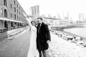 Wedding couple at DUMBO