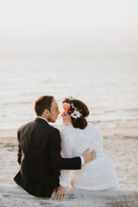 Montauk bride and groom