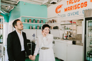 Tacombi Montauk Wedding couple
