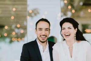 Tacombi Montauk Wedding bride and groom