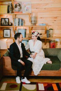 Ruschmeyer Hotel Montauk bride and groom