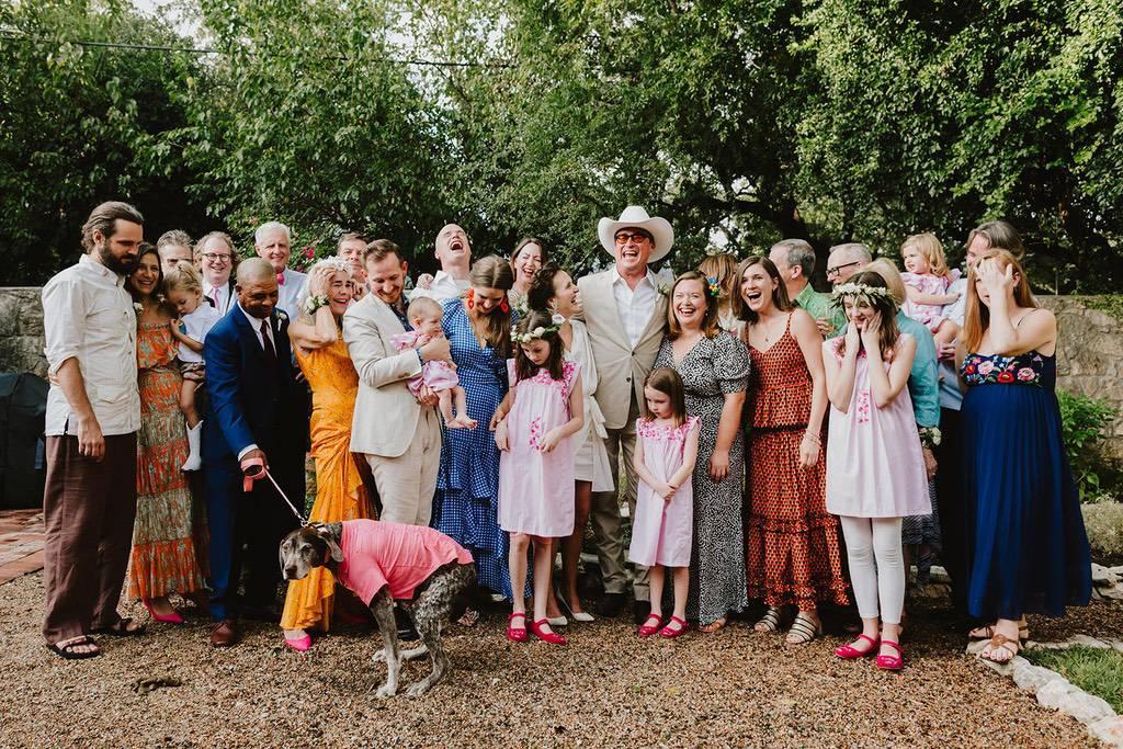 Wedding day group photo