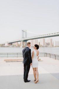 DUMBO wedding couple photos