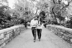 Central Park Manhattan engaged couple