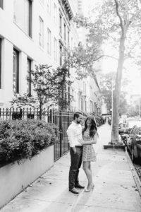 Manhattan engaged couple