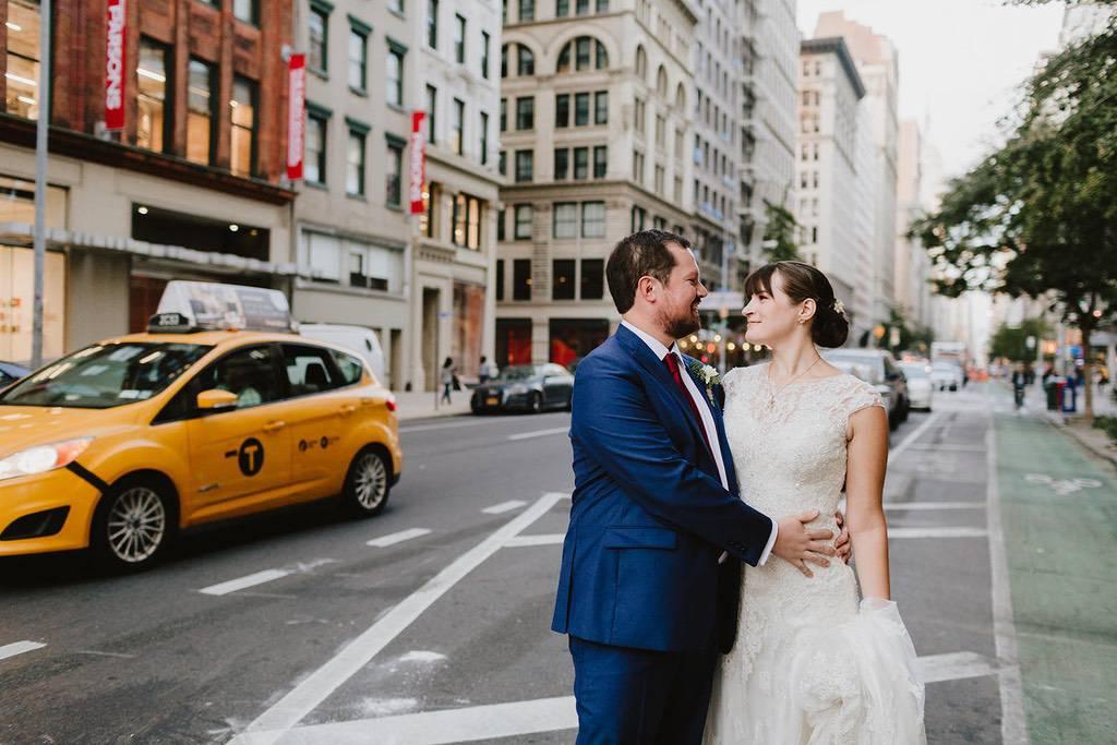 Manhattan wedding portrait