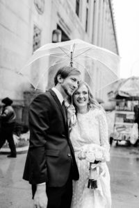 City Clerk rainy day nyc wedding