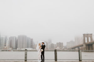 Rainy wedding day NYC