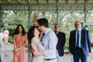 Ladies Pavilion bride and groom
