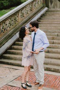 Bethesda fountain wedding couple