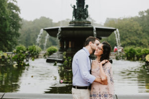 Bethesda fountain bride and groom