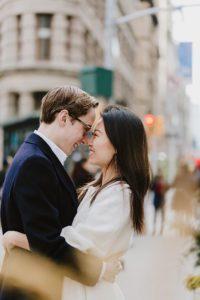 Flatiron engaged couple
