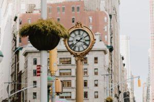Flatiron clock