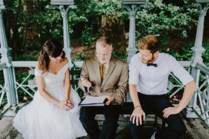 Ladies Pavilion marriage license signing