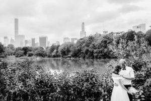 Central Park Wedding bride and groom