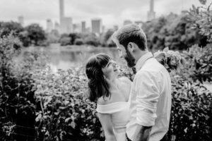 Central Park Wedding bride and groom