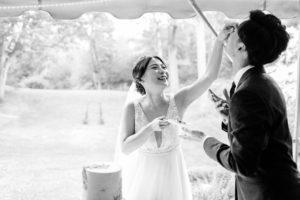 MIT Endicott House wedding couple