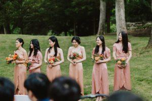 MIT Endicott House bridesmaids