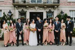 MIT Endicott House wedding party