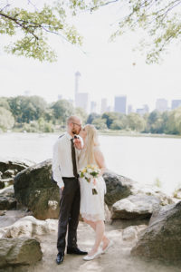 central park wedding with skyline