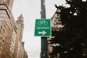 uptown nyc sign